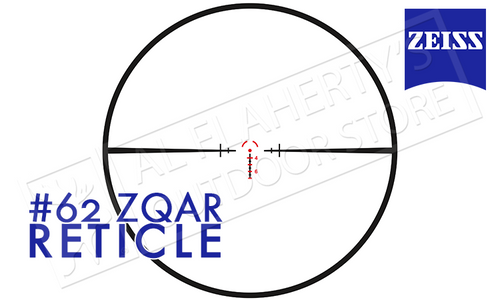 ZEISS CONQUEST V4 RIFLE SCOPE 1-4X24MM WITH #62 ZQAR ILLUMINATED RETICLE