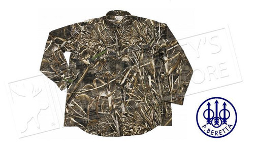 Beretta Long Sleeve Shooting Shirt in Realtree MAX5 Camo M-2XL #LU190075610858