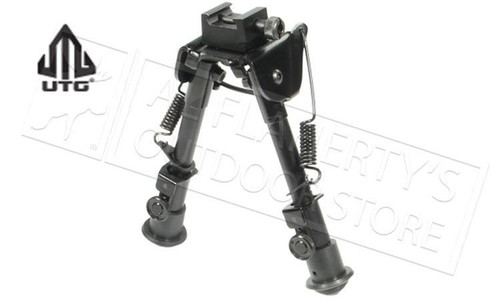 "UTG TACTICAL OP BIPOD, RUBBER FEET, CENTER HEIGHT 6.1""-7.9"""