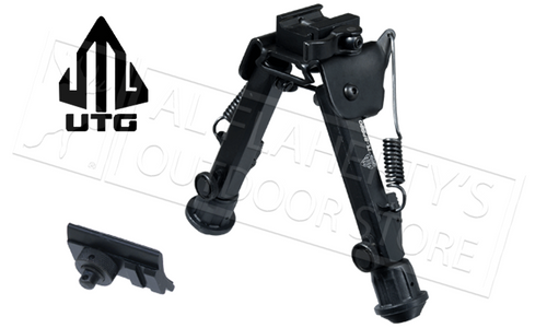 "UTG SUPER DUTY BI-POD WITH QD LEVER MOUNT, 6"" TO 8.5"" ADJUSTABLE"