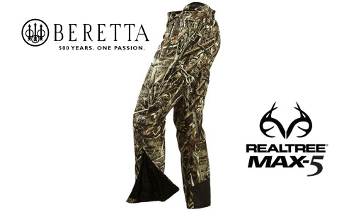 Beretta Pants Waterfowler in MAX5 Camouflage, M-2XL #CU241022950858