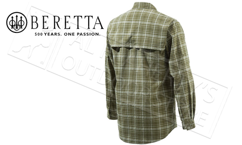 Beretta Quick Dry Shirt, Fir Green M-2XL #LU011T0452070HM