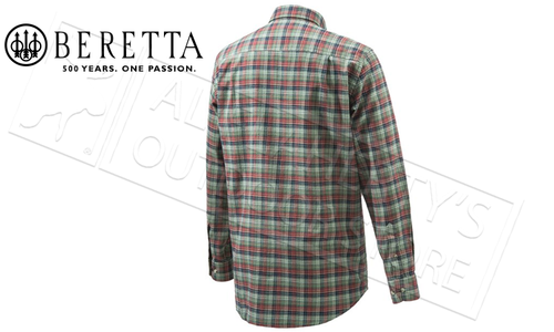 Beretta Sport Classic Button Down Shirt in Red Check, Large to XL #LUA10T07060375
