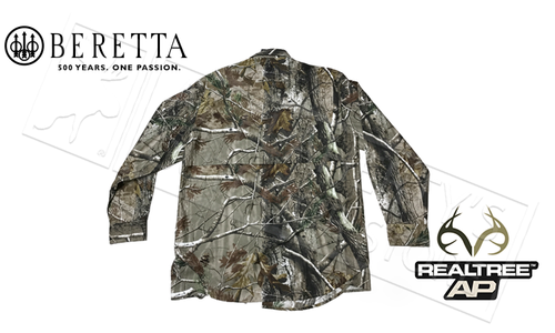 Beretta TM Shooting Shirt, Long Sleeve in Realtree AP Camo Sizes M-2XL #LU190075610087