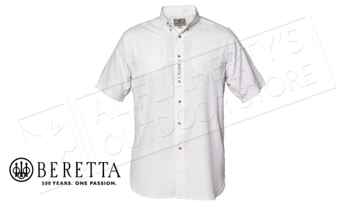 Beretta V-Tech Shooting Shirt, Short Sleeves White #LT100075520100