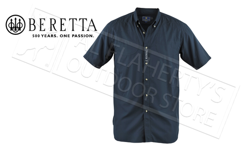 Beretta V-TECH Short-Sleeved Shooting Shirt, Navy Blue #LT100075520504