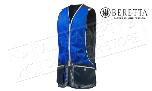 Beretta Silver Pigeon Shooting Vest P.V. Navy & Excel Blue, M-3XL #GT031021130545