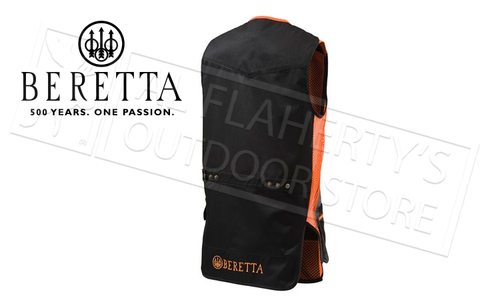 Beretta Silver Pigeon Shooting Vest, Black and Orange #GT031021130945