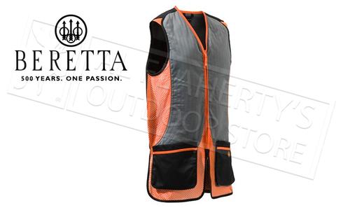 Beretta Silver Pigeon Shooting Vest, Black and Orange #GT031021130945