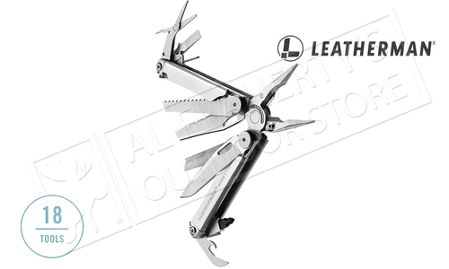 Leatherman Wave Plus Multi-Tool, Stainless with Nylon Sheath #832524