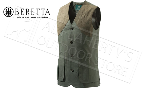 Beretta St James Cotton Vest in Rosin Green, Sizes 52-56 Italian #GU752T1295070B