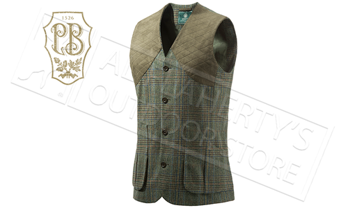 Beretta St James Vest in Green Check, Sizes 50-56 #GU752T07640796