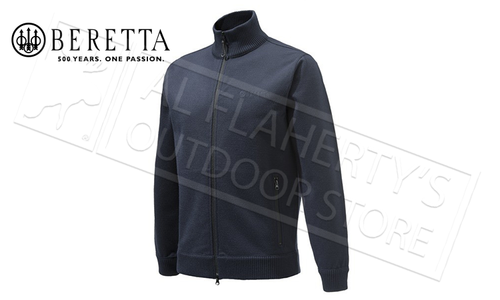 Beretta Techno Windshield Full-Zip Sweater in Blue Total Eclipse, M-3XL #PU411T1201