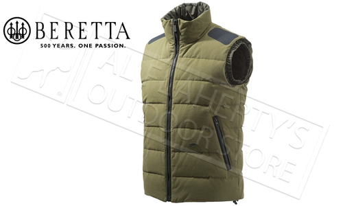 Beretta Terragon Down Cotton Vest in Green, Sizes 52-58 Italian #GU313T14170898