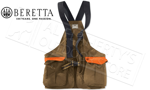 Beretta Waxed Cotton Strap Vest for Hunting #GU4320610853