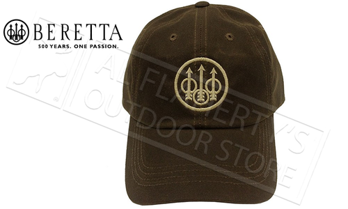 Beretta Waxed Cotton Hat in Brown #BC09202533