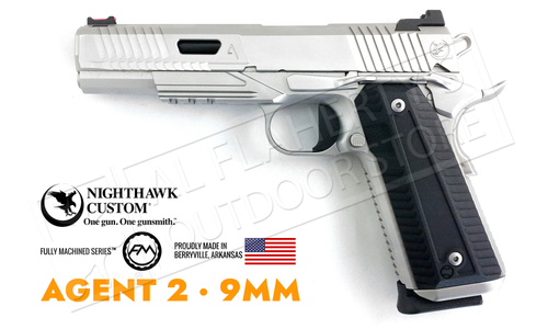 Nighthawk Custom 1911 AGENT II Stainless 9mm