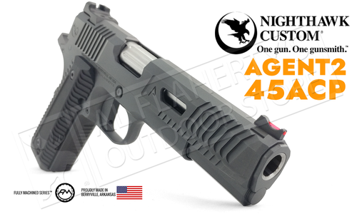Nighthawk Custom 1911 Agent2 Black 45ACP