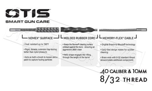 OTIS RIPCORD BORESNAKE FOR .40 CALIBER AND 10MM HANDGUNS