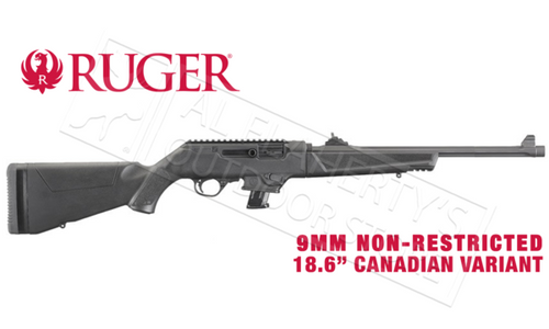 "Ruger PC Carbine Canadian Non-Restricted Variant, 9mm 18.6"" Barrel #19103"