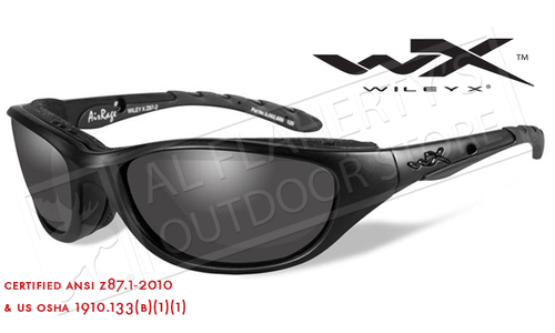 Wiley X AirRage Shooting Glasses with Grey Lens and Matte Black Frame #694