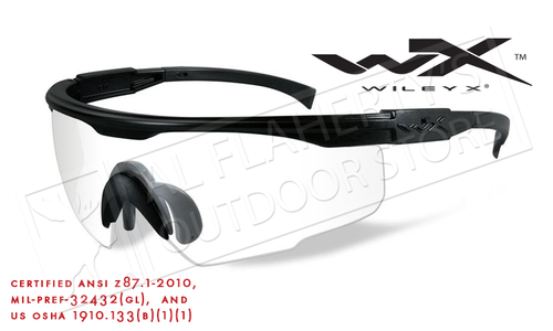 Wiley X PT-1 Shooting Glasses with Clear Lens and Matte Black Frame #PT-1C
