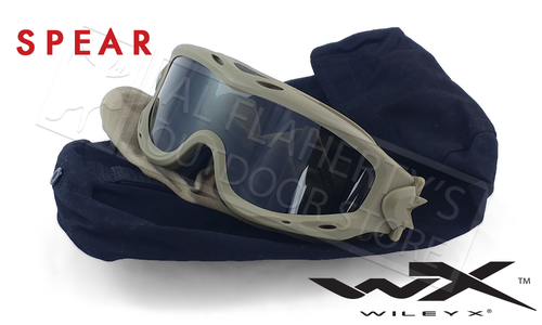 Wiley X Spear Ballistic Goggles with Grey and Clear Lens Combo #SP29T