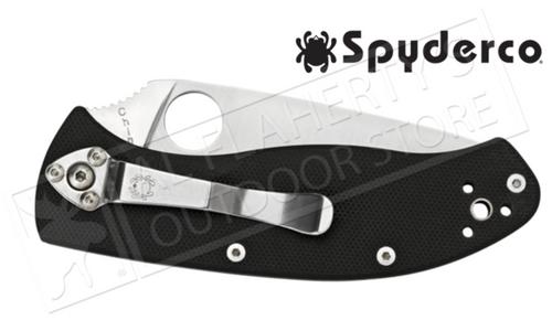 SpyderCo Tenacious G-10 Folding Knife, PlainEdge #C122PG