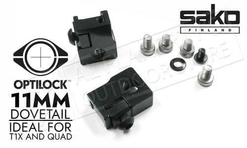 Sako Tikka Optilock Bases for 11mm Dovetail Rifles #S11862354
