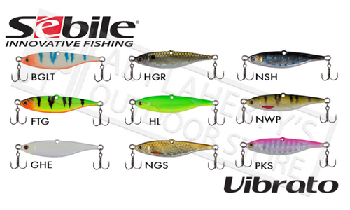Sebile Vibrato Jigs, 1/4 oz. 1-3/4""