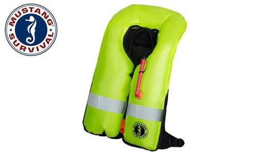 Mustang Elite Inflatable PFD (Automatic), Black or Red, Universal