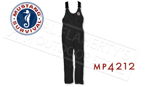 Mustang Survival Classic Floatation Bib Pants, Black M-XL