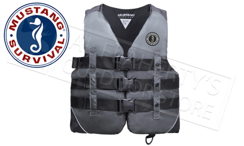 Mustang Survival Nylon Water Sport Floatation Vest M-2XL