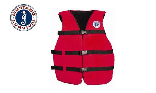 """Mustang Survival Universal Fit PFD, Adjustable to 52"""" Chest"""