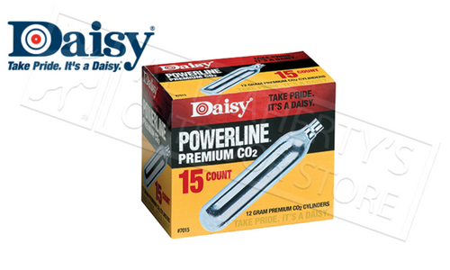 Daisy Powerline Premium CO2 12g Cartridges, Pack of 15 #7015