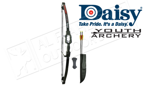 "Daisy Youth Compound Bow Adjustable Archery Kit, 13-19 lbs. 16""-25"" Draw Length #YA4002"