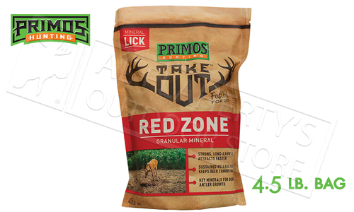 Primos Deer Feed Take Out Red Zone - Long-Range Granular Mineral 4.5lb Bag #58734