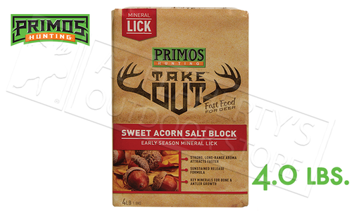 Primos Deer Feed Take Out Sweet Acorn Salt Block 4 lbs. #58736