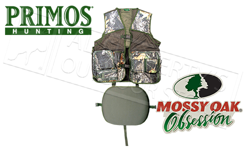 Primos Gobbler Vest for Hunting with Seat in Mossy Oak Obsession Camo #6560