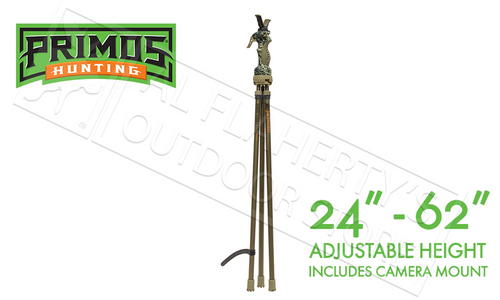 "Primos Hunting Jim Shockey Tall Tripod Trigger Stick, Gen 3 Adjustable 24"" to 62"" #65815"