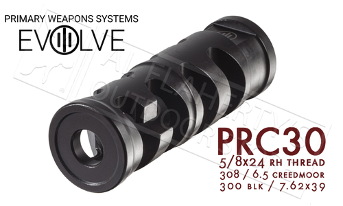 PWS PRC Compensator for 30 Caliber Firearms 5/8-24 Threading #PRC30
