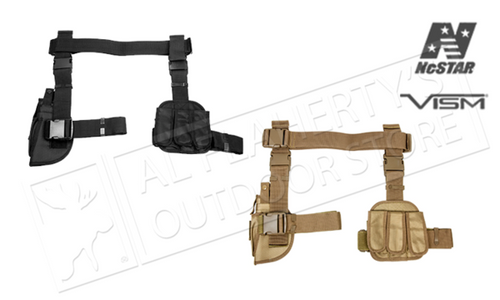 VISM Drop Leg 3 Piece Gun Holster & Magazine Holder Black or Tan #CV2908
