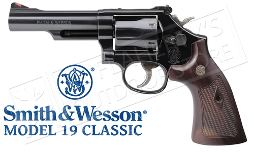 "Smith & Wesson Model 19 Classic Revolver, 357 Magnum, Blued 4.25"" Barrel #12040"