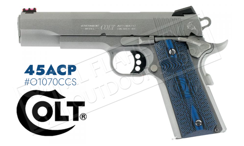 Colt 1911 Competition Government Frame Pistol, 45ACP Stainless Finish #o1070CCS