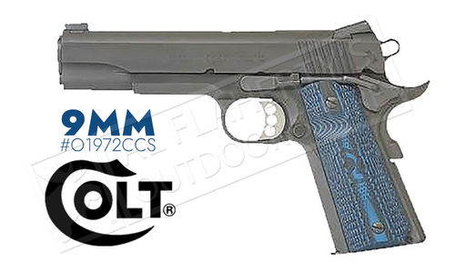 Colt 1911 Competition Government Frame Pistol, 9mm Carbon Steel Finish #o1972CCS
