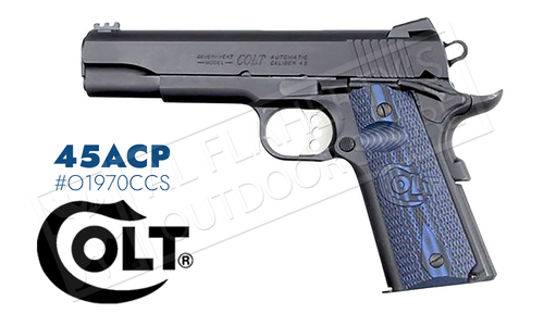 Colt 1911 Competition Government Frame Pistol, 45ACP Blued Finish #o1970CCS