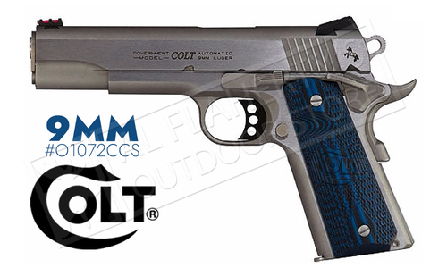 Colt 1911 Competition Government Frame Pistol, 9mm Stainless Finish #o1072CCS