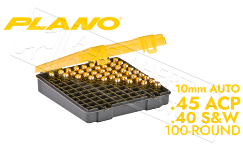 Plano Shell Case 100-Count Handgun Ammo - 45ACP 40SW or 10mm AUTO #122700