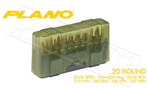 Plano Shell Case 20-Count Rifle Ammo - 30-06, 7mm RM, 338 WM, 270 WIN #123020