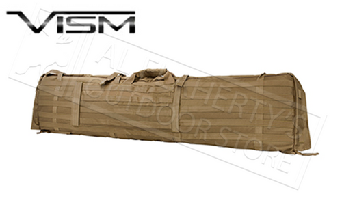 "VISM Rifle Case w/Shooting Mat in Black, Tan or Green 49"" #CVSM2913"